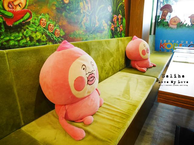 台北東區主題餐廳醜比頭的秘密花園輕食咖啡屁桃 (8)