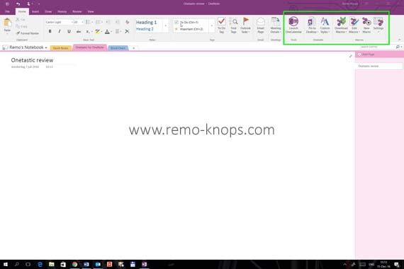 Onetastic for Microsoft OneNote 27