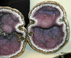 Amethyst-calcite in geode (Chihuahua, Mexico) 2