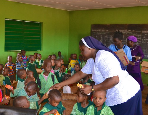 The Bridge of Care Programme run by the students of Louisville Girls High School in Ijebu-Itele, Ogun State