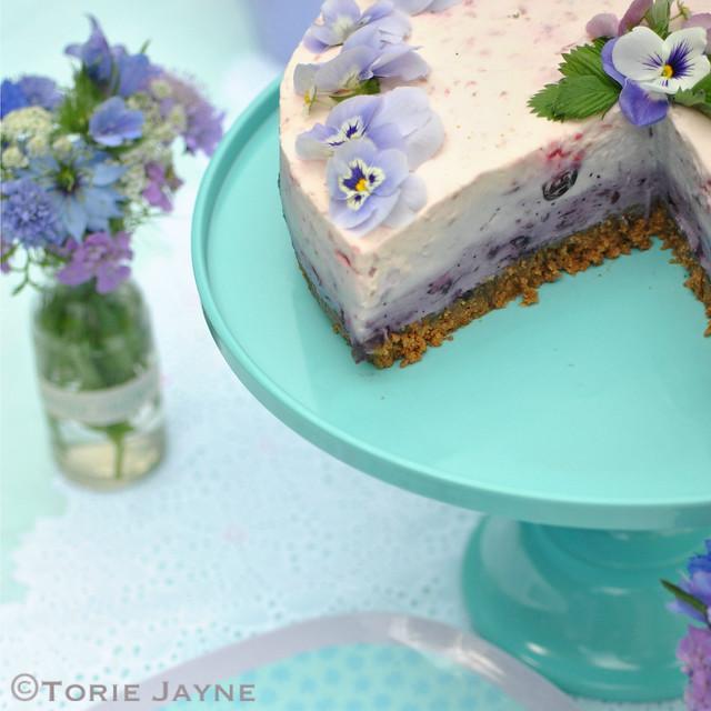 Turquoise melamine cake stand 4