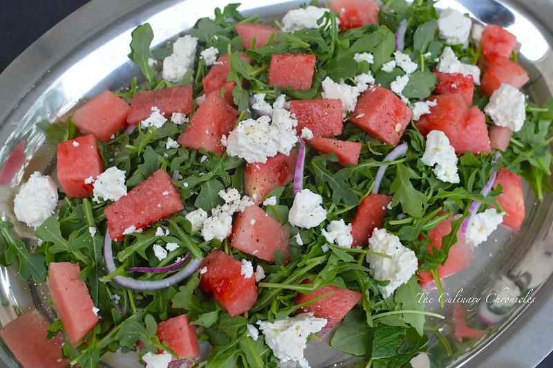 June 2015 Family Dinner: Watermelon-Feta Salad