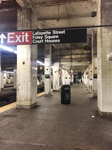 Wretched J train station