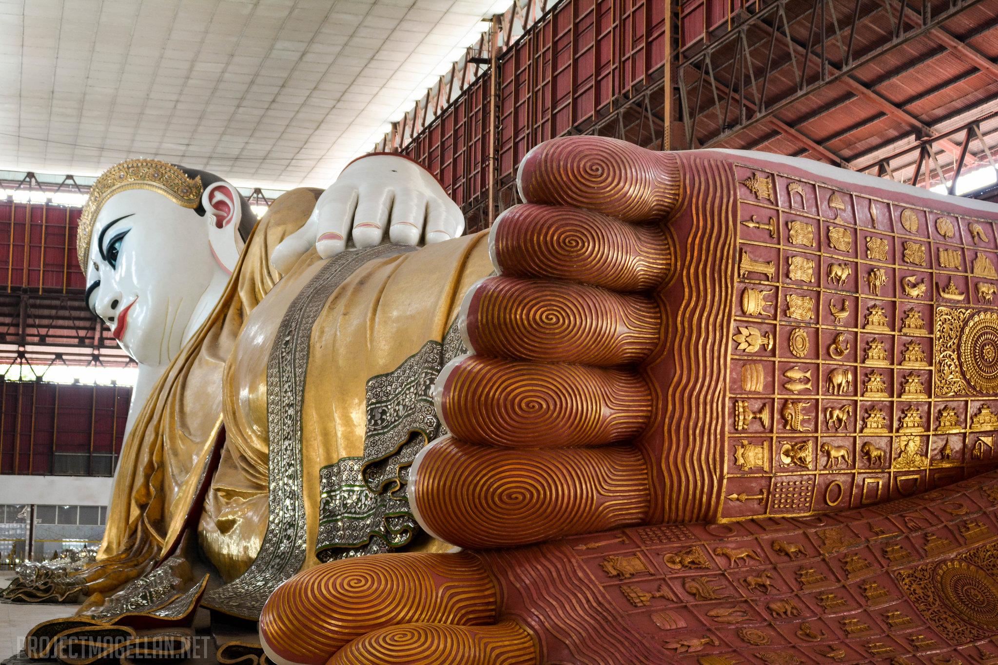 Reclining Buddha, , Yangon, Myanmar, Burma, Rangoon, Chauk Htat Gyi Pagoda
