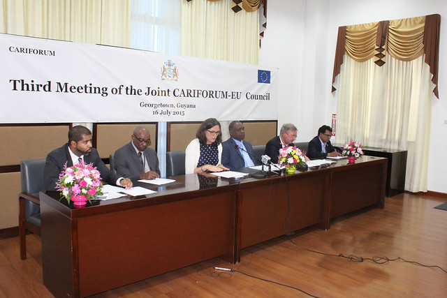 Press Conference: Third Meeting of the Joint CARIFORUM-EU Council – 16 July 2015