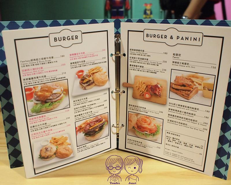 18 Fantasy Diner menu