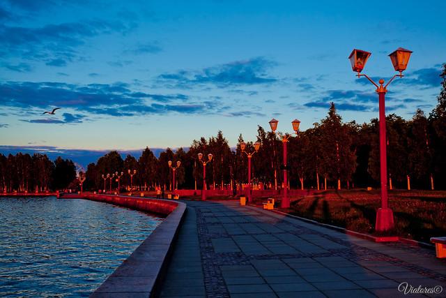 Naberezhnaya Petrozavodska. Karelia. Russia