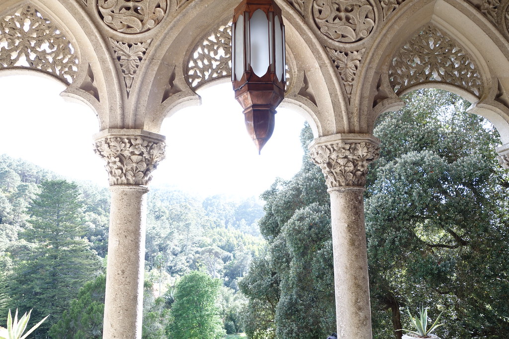 Balcony, Monserrate Palace/Palacio de Monserrate, Sintra, Portugal