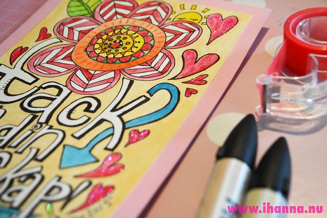 A doodle card close up - by iHanna of www.ihanna.nu