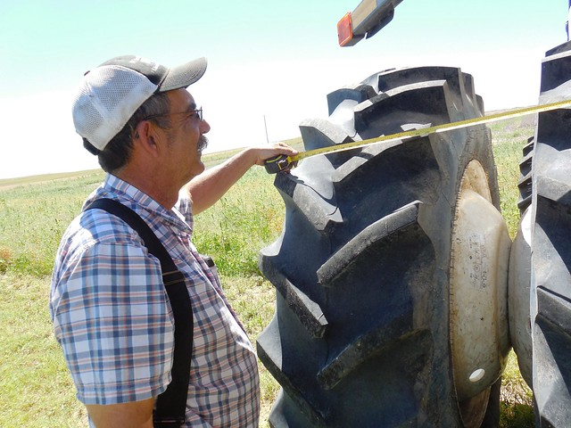 Dad measuring the duals