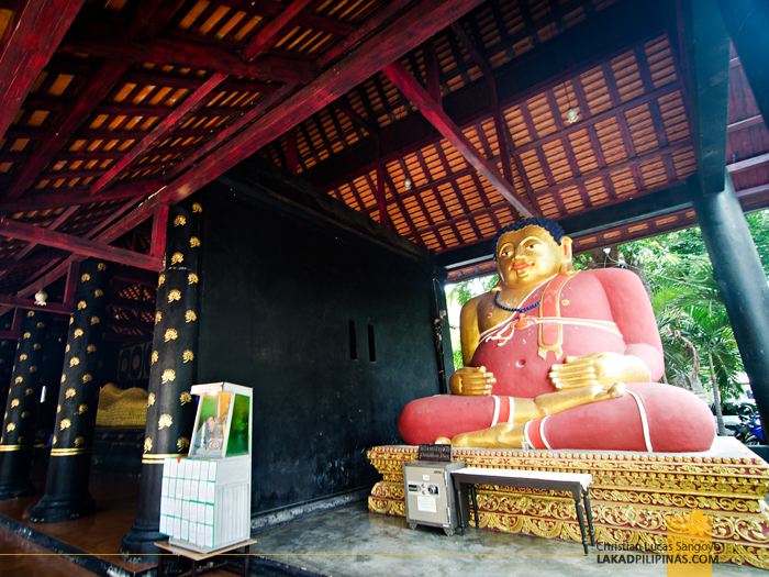 Fat Monk at Wat Chedi Luang Chiang Mai