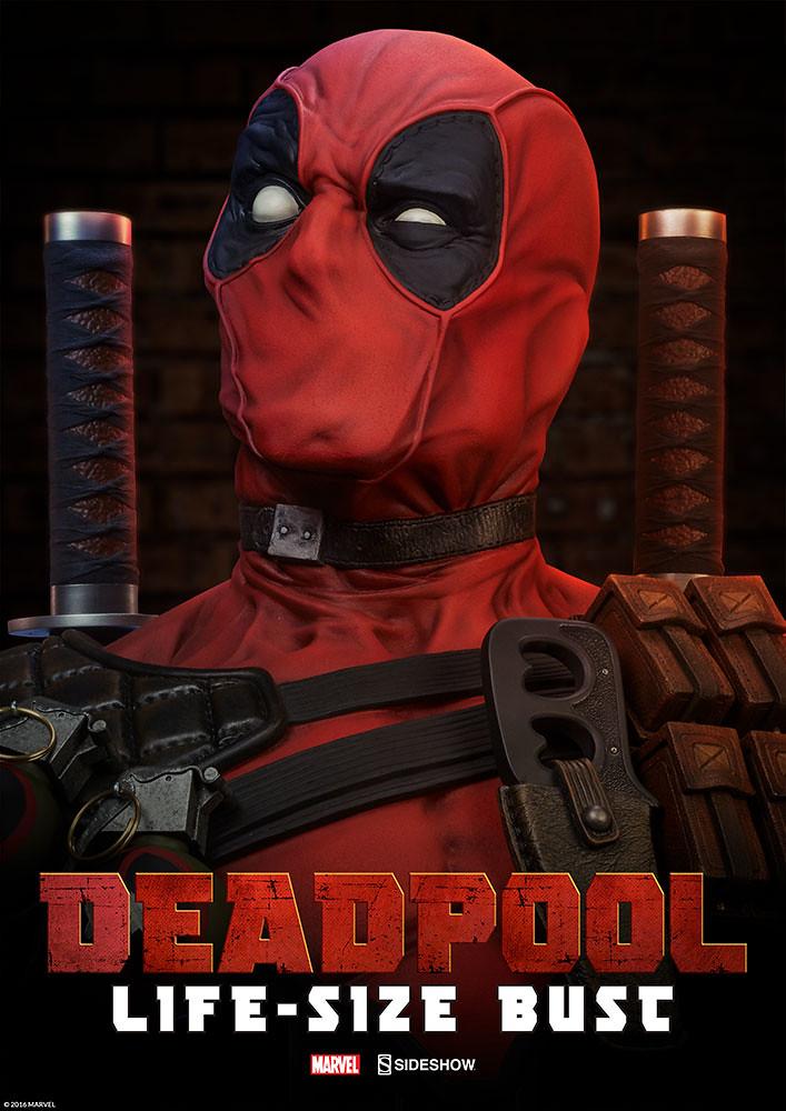 自拍最佳搭檔!!Sideshow Collectibles【死侍1:1 真人比例半身胸像】Deadpool Life-Size Bust