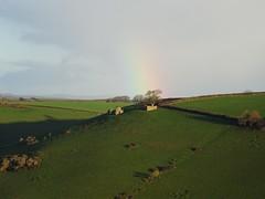 Rural ruins rainbow