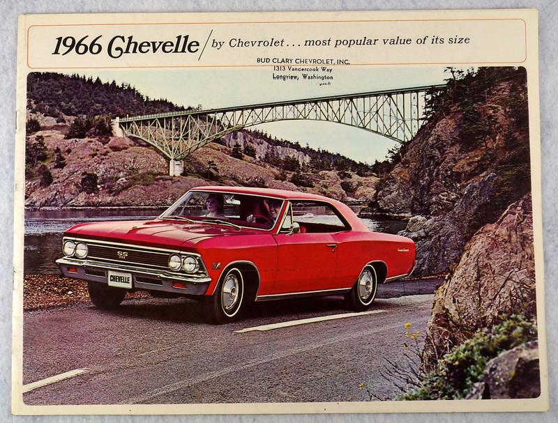 RD12674 1966 Chevy Chevrolet Chevelle Super Sport SS Malibu Brochure Catalog DSC08659