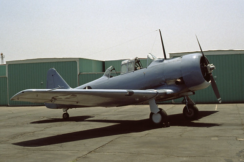 North American SNJ (T-6 Texan) at the Planes of Fame Museum, 1980