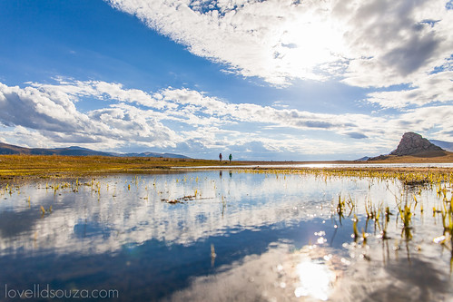 A Glimpse of the Terkhiin Tsagaan Nuur (Great White Lake)
