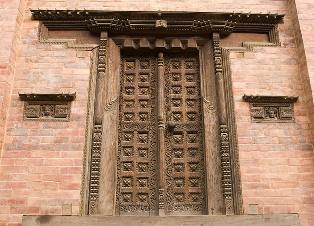 Ornate wooden door