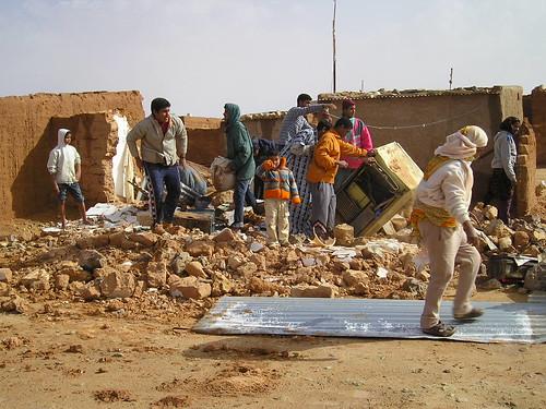 Un campo de refugiados de Tinduf