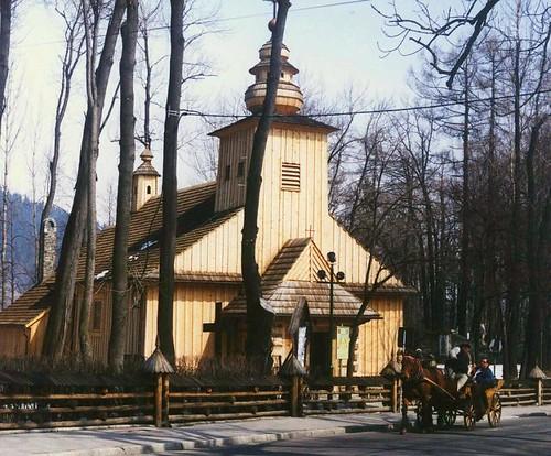 Zakopane, wooden church, Winter 2004