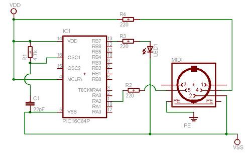 midi circuit board circuit board schematic circuit board schematic symbols midi  circuit diagram photo interrupter circuit
