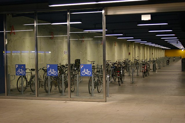 Parking Lot For Your Bike Inside U-Bahn Station