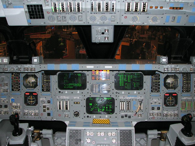 space shuttle reentry from cockpit - photo #8