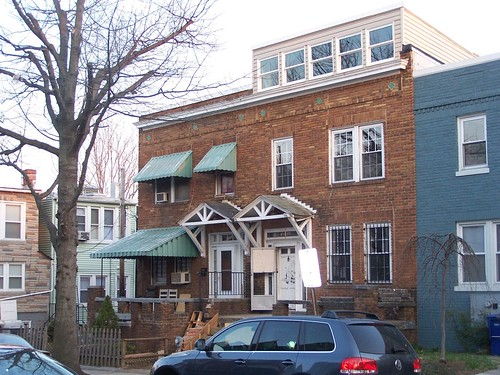 1010 Irving Street NW with discordant third floor addition