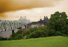 Mississippi River bridges at Vicksburg Cover Photo