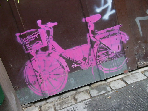 Pink Bike Stencil