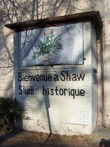 Bienvenue a Shaw Slum historique, 1600 block 9th Street NW, east side