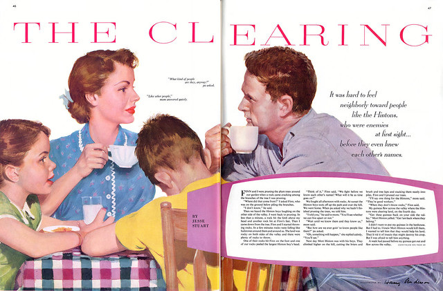 vintage old retro magazine revista women mujer moda fashion advertaisment 1950 Harold Anderson