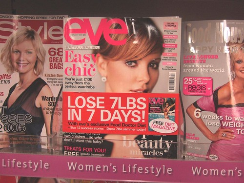 Interesting how many women's magazines are obsessed with weight - here's one.