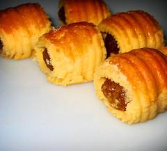 baked goods, food, dish, dessert, cuisine, danish pastry, sausage roll,
