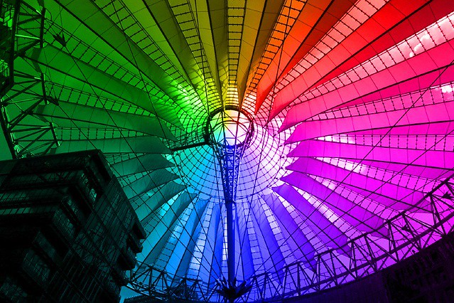 Sony Center colorful