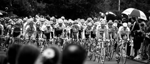 The Tour de France passes through Wicklow in 1998, the year it started in Ireland – but in which city? Photo: Thomas Fitzgerald