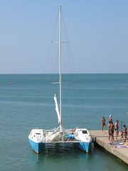 lagoon, sail, sailboat, sailing, dinghy, vehicle, sailing, sea, proa, mast, watercraft, catamaran, boat,
