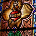 heart in stained glass by Mathieu Bertrand Struck