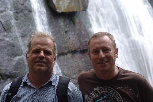 South Africa - Fred and Charles at waterfall in Hogsback by CharlesFred