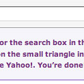 Yahoo search plugin prompt