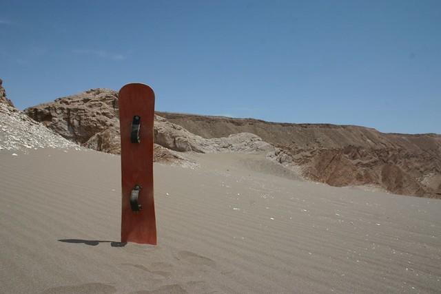 Sand Boarding in der Atacama Wüste