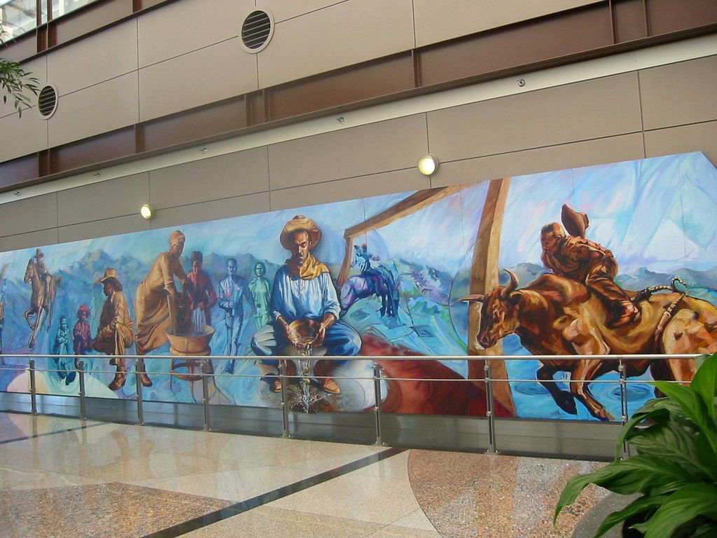 Flickriver for Mural in denver airport