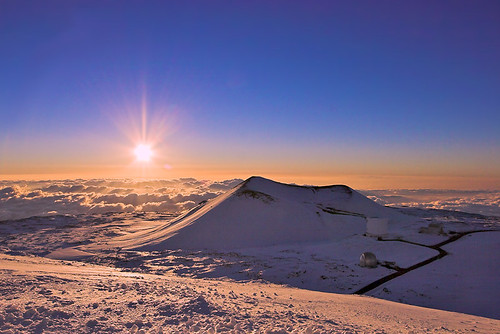 sunset snow hawaii bravo bigisland puu maunakea 15378b