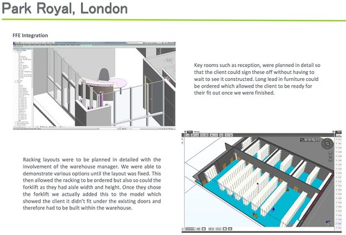 Best SME BIM Project small or micro Howard Russell Construction for Mash Purveyors BIM4SMEawards