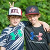 Henry and Ben keeping #ATL and #underarmour in business. Off to Chastain tennis camp on the hottest week of 2015. #chastainpark #chastaintennis