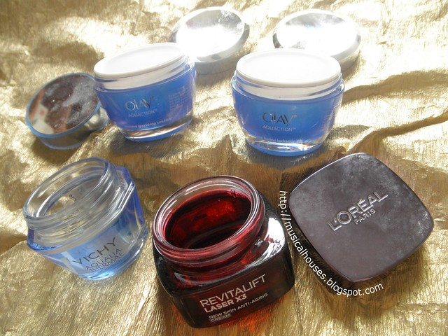 Empties Skincare Loreal Olay Vichhy
