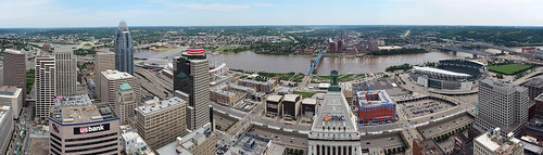ohio panorama skyline skyscraper river cityscape view kentucky cincinnati newport ohioriver carewtower paulbrownstadium pnctower scrippscenter greatamericantower
