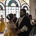 Victorian ball gowns. 1860's ladies and gentlemen dancing a walz. X Ruta Literaria del Romanticismo. JUNIO 2015. ALMENDRALEJO. by Anacrónicos Recreación Histórica