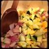 #Homemade #PastaAllaMariona #Zucchini #CucinaDelloZio - toss in some diced zucchini