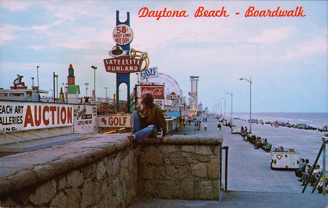 boardwalk daytona beach florida 1970's