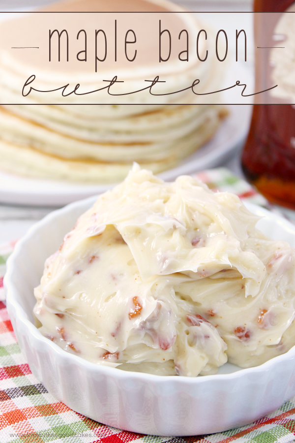 Maple Bacon Butter in a white bowl.